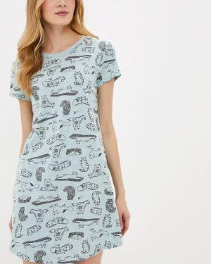 Платье бирюзовый осеннее Marks & Spencer