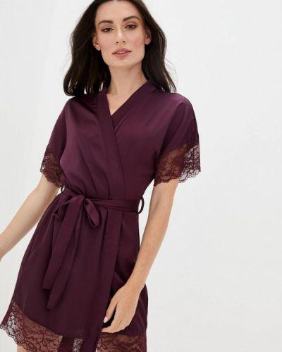 Фиолетовый кружевной домашний халат Mianagreen