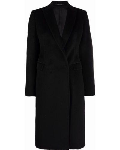 Черное пальто на пуговицах Tagliatore