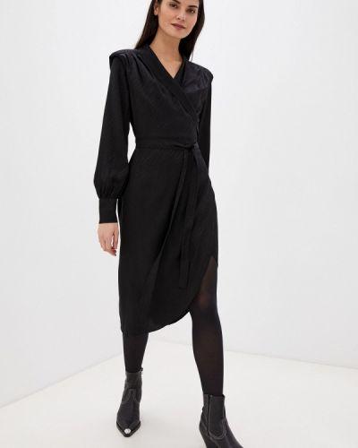 Черное платье с запахом Twist & Tango
