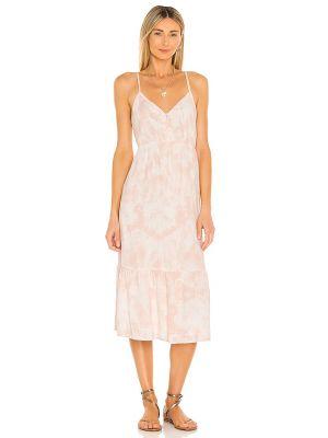 Льняное розовое платье с подкладкой Rails