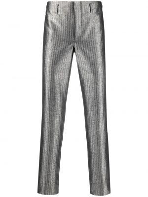 Spodnie z wysokim stanem bawełniane z paskiem Comme Des Garcons Homme Plus