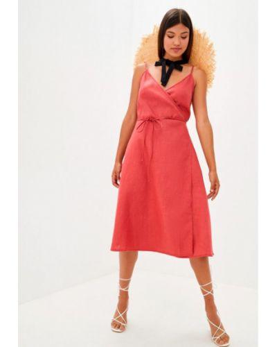 Льняное платье с запахом Прованс