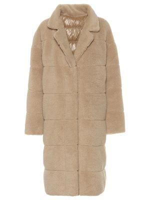Бежевое пальто Moncler