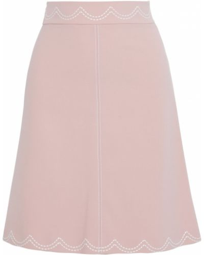 Юбка из вискозы - розовая Redvalentino