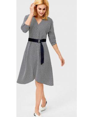 Платье с поясом через плечо с длинными рукавами Ostin