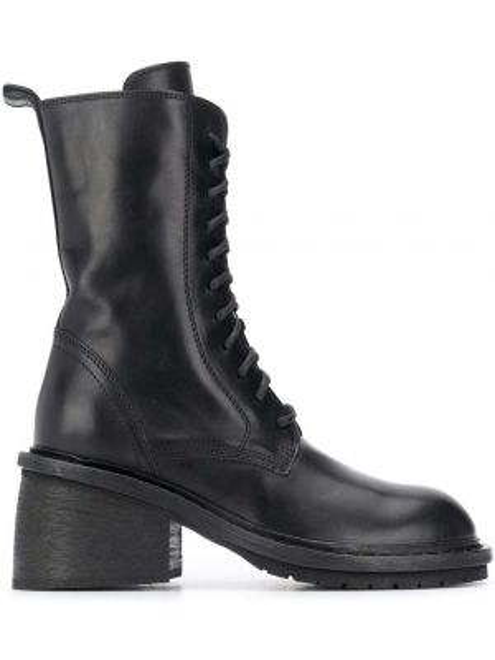 Buty na obcasie na pięcie czarne Ann Demeulemeester