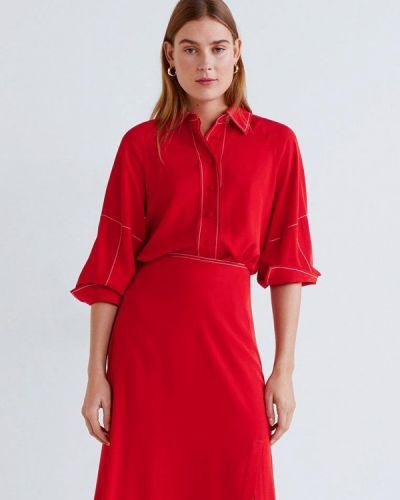 Блузка с длинным рукавом красная Mango