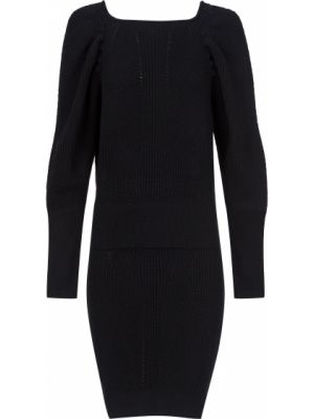 Шерстяное платье - черное Frankie Morello
