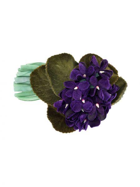 Broszka fioletowy zielony Chanel Pre-owned