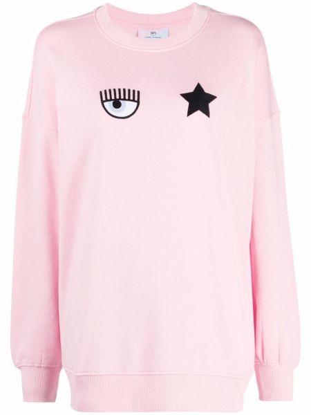 Розовая приталенная футболка Chiara Ferragni