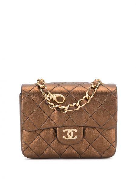Brązowa torebka na łańcuszku skórzana pikowana Chanel Pre-owned
