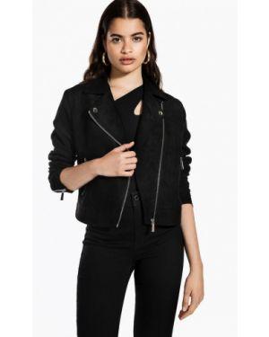 Кожаная куртка черная осенняя Ivyrevel