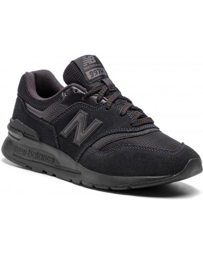 Skórzany sneakersy zamsz czarny New Balance