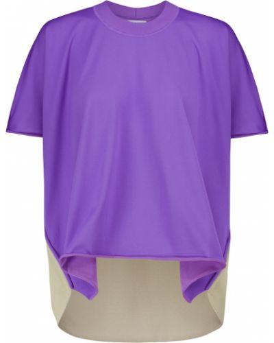 Фиолетовая трикотажная футболка Bottega Veneta