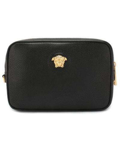 Барсетка кожаная черный Versace