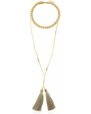 Złoty naszyjnik perły pozłacany Vanina