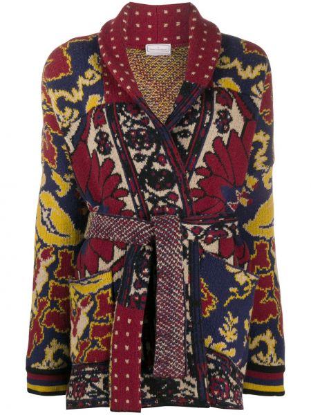 Красное шерстяное вязаное пальто Pierre-louis Mascia