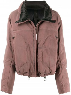 Розовая кожаная куртка с карманами Isaac Sellam Experience