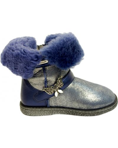 Сапоги синие кожаный Missouri