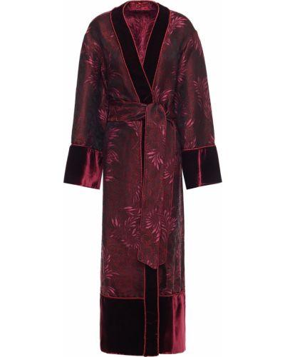 Открытое фиолетовое шерстяное пальто F.r.s For Restless Sleepers