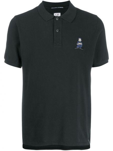 Рубашка с короткими рукавами классическая с воротником-стойкой Cp Company Kids