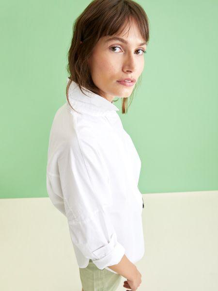 Белая рубашка с длинными рукавами Defacto