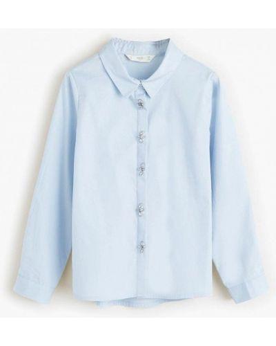 Блуза голубой Mango Kids