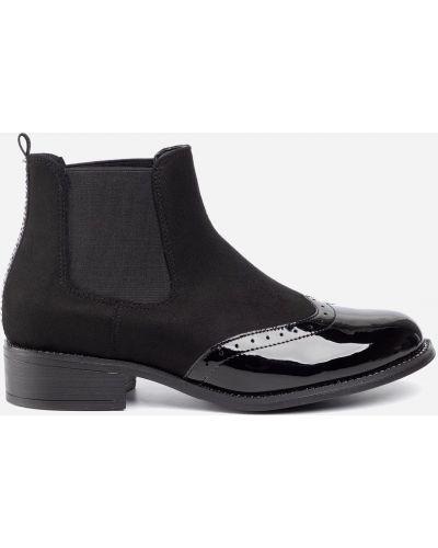 Ботинки челси на каблуке - черные Jenny Fairy