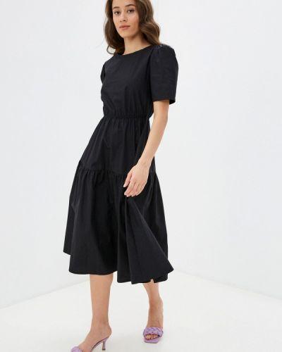 Черное прямое платье Lorani