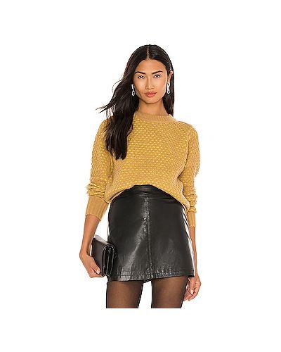 Акриловый желтый свитер Kendall + Kylie
