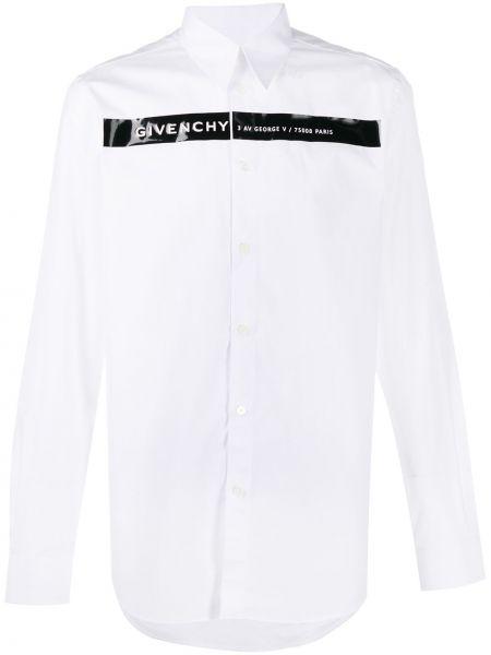 Biały klasyczna koszula z kołnierzem z mankietami zapinane na guziki Givenchy