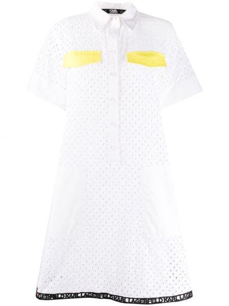 Платье мини на пуговицах Karl Lagerfeld