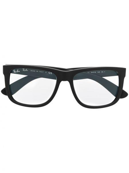 Prosto czarny oprawka do okularów prostokątny wytłoczony Ray-ban