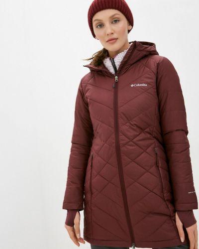 Утепленная красная куртка Columbia