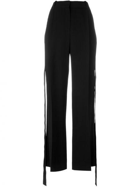 Spodnie z wysokim stanem czarne z kieszeniami Givenchy