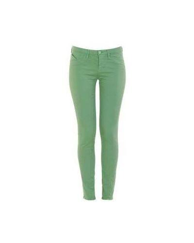 Зеленые джинсовые зауженные джинсы Moschino Love