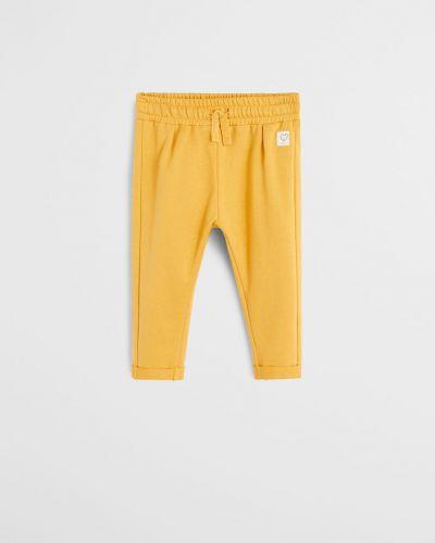 Брюки желтый тонкий Mango Kids