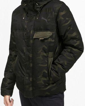 Зимняя куртка осенняя зеленая Puma