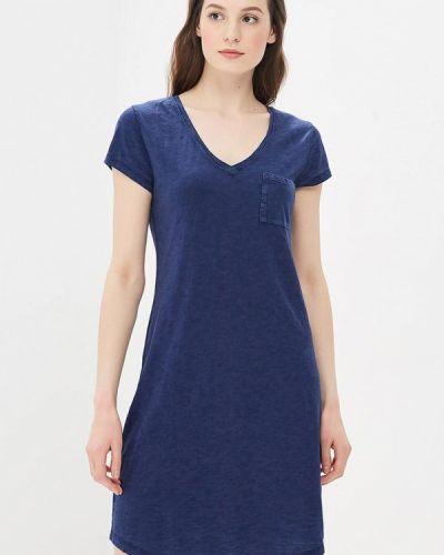 Синее платье прямое Gap