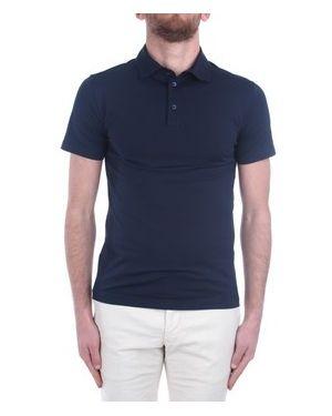 Niebieski t-shirt Cruciani