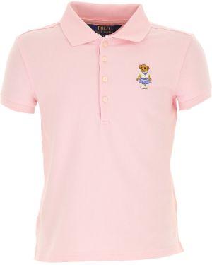T-shirt bawełniana - różowa Ralph Lauren