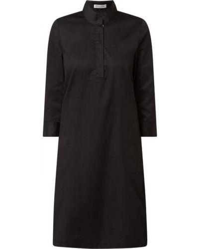 Czarna sukienka mini rozkloszowana bawełniana Christian Berg Women