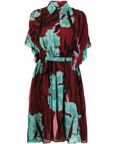 Платье мини миди с цветочным принтом Just Cavalli