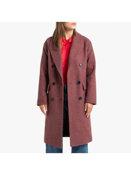 Пальто оверсайз в клетку La Redoute
