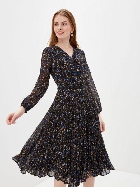 Платье прямое черное Lusio