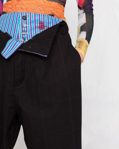 Прямые черные с завышенной талией брюки Vivienne Westwood