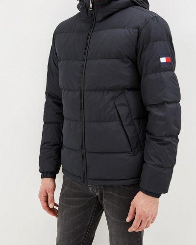 Теплая черная зимняя куртка Tommy Hilfiger