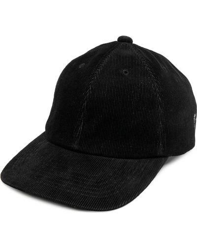 Czarna czapka bawełniana klamry Undercover