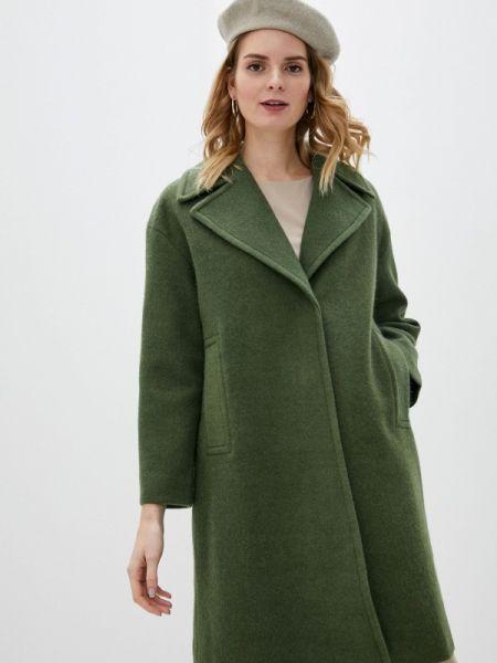 Зеленое пальто с капюшоном Sultanna Frantsuzova